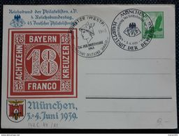 DR 1939, Postkarte 45. Philatelistentag, 2 Sonderstempel - Allemagne