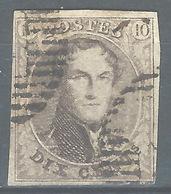 MM-/-1077.- N° 3, Obl. ,  Cote 9.00 € ,  PAPIER EPAIS - Voir Les Scans Pour Detail !! - 1849-1850 Médaillons (3/5)
