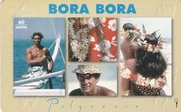 French Polynesia, FP039, Bora Bora, 2 Scans. - Polynésie Française