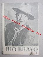 Rio Bravo (1959) / Howard Hawks:  John Wayne, Dean Martin, Ricky Nelson ZETA Film ( American Film ) - Programs