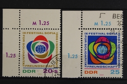 DDR, MiNr. 1377-1378, Ecken Links Oben, Gestempelt - Used Stamps