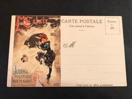 CPA 1900/1920 Publicité L'éclair Journal Politique Indépendant - Pubblicitari