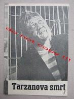 The Death Of Tarzan (1963) / Jaroslav Balík:  Rudolf Hrusínský, Jana Stepánková ZETA Film ( Czechoslovak Film ) - Programs