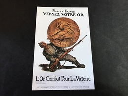 CPA 1900/1920 Publicité Pour La France Versez Votre Or L'or Combat Pour La Victoire - Patrióticos