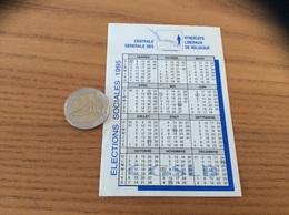 AUTOCOLLANT, Sticker, Calendrier 1995 «CSGSLB - CENTRALE GENERALE DES SYNDICATS LIBERAUX DE BELGIQUE» - Pegatinas