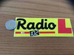 AUTOCOLLANT, Sticker «Radio L 102 - METZ (57)» - Pegatinas