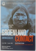 GROENLAND / AMMASSALIK - Histoire Des Inuit De La Cote Est / Visage - Carte Publicitaire Musée De L'Homme - America