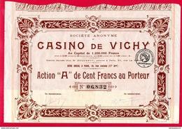 (Réf : Z633) VIEUX PAPIERS ACTIONS & TITRES CASINO DE VICHY - Casino