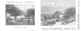 G.F.20-083 : SALLANCHE HAUTE-SAVOIE. BELVEDERE HOTEL - Tourism Brochures