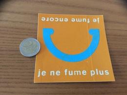 AUTOCOLLANT, Sticker «je Fume Encore - Je Ne Fume Plus» - Pegatinas