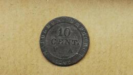 COIN MONNAIE FRANCE MODERNE NAPOLEON 10 CENTIMES 1808 A - D. 10 Centimes