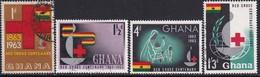GHANA 1963 SG 307-10 Compl.set Used Red Cross Centenary - Ghana (1957-...)