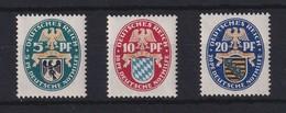 Dt. Reich Nothilfe 1925 Wappen Preußen, Bayern, Sachsen Mi.-Nr. 375-377 * - Germany