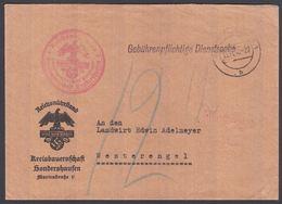 1940. DEUTSCHES REICH. Gebührenpflichtige Dienstsache Kreisbauernschaft Sondershausse... () - JF195315 - Landwirtschaft