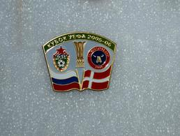 "Badge Pin: UEFA CUP 2005-06 CSKA Moscow Russia - "" FC Midtjylland "" Herning,  Denmark - Football"