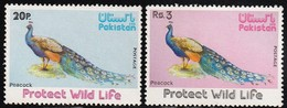 1976 Pakistan Wildlife Protection: Indian Peafowl Set (** / MNH / UMM) - Paons