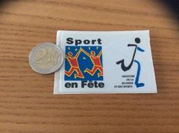 AUTOCOLLANT, Sticker TISSU «Sport En Fête - MINISTÈRE DE LA JEUNESSE ET DES SPORTS» - Pegatinas