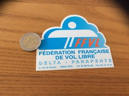 AUTOCOLLANT, Sticker * «FFVL - Fédération Française De VOL LIBRE - DELTA PARAPENTE - NICE (06)» - Pegatinas