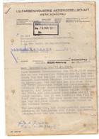 B18  1943 L Courrier  I.G FARBEN - Guerre De 1939-45