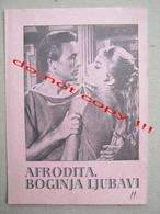 Goddess Of Love, Aphrodite Déesse De L'amour (1957) /  Fernando Cerchio: Belinda Lee  ZETA Film ( French-Italian Film ) - Programs