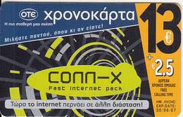 GREECE - Advertising OTE/Conn-x, OTE Prepaid Card 13 Euro, Tirage 30000, 01/06, Used - Greece