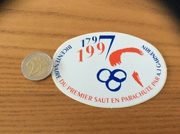 AUTOCOLLANT, Sticker «1997 - BICENTENAIRE DU PREMIER SAUT EN PARACHUTE PAR A.J GARNERIN» - Pegatinas