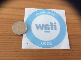AUTOCOLLANT, Sticker Inversé « Je Soutiens Ifaw 2020» (association Animaux Sauvages) - Pegatinas