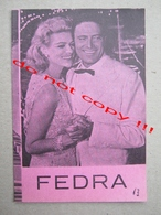 Phaedra (1962) / Jules Dassin: Melina Mercouri, Anthony Perkins, Raf Vallone ZETA Film ( American-Greek Film ) - Programs