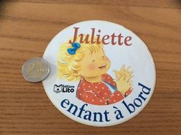 AUTOCOLLANT, Sticker *x «Juliette Éditions Lito - Enfant à Bord» - Pegatinas