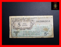 U.S.A. 5 Cents 1946 P. M1 Serie 461   Fine - Military Payment Certificates (1946-1973)