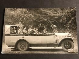 CPA 1900/1930 Carte Photo Lourdes Taxi Lourdes Les Pyrénées - Autobus & Pullman