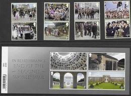 UK, 2020, MNH, WWII, END OF SECOND WORLD WAR, WAR MEMORIALS, HOLOCAUST HISTORY MUSEUM, MILITARY, 6v+SLT - WO2