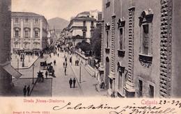 CATANIA - Strada Atenea - F/P - V: 1903 - S/B - Animata - Catania