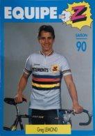 Postcard - Greg Lemond As World Champion - Equipe Z - 1990 - Ciclismo