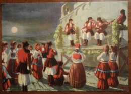 "Sardegna, Sassari - Costumi Sardi - ""La Gara Poetica"" Illustratore: S. Ibba - Folclore - Viaggiata - Anni '40? - Italië"