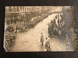 Carte Photo 1918 Entrée De La Division à Zweibrucken Deux Ponts Passage Devant Le Général 18/12/1918 - Guerre 1914-18