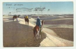 TRIPOLI - NEL DESERTO   1929 VIAGGIATA  FP - Libye