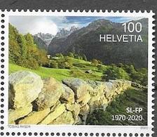 SWITZERLAND, 2020, MNH, LANDSCAPE PROTECTION, MOUNTAINS, 1v - Geology