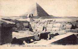 Egypte Egypt  The Temple Sphinx And Pyramid Of Kheops     M 3452 - Pyramids