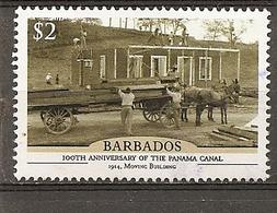 Barbados 2014 Panama Canal Obl - Barbados (1966-...)