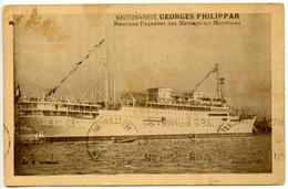 Nautonaphte Georges Philippar - Messageries Maritimes - Cachet Ligne Yokohama N° 6  - Voir Scan Rv - Paquebots