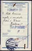 Kingdom Of SHS Croatia Zagreb 1929 / Uputnicka Priznanica, Receipts / Postal Money Order / Postanska Uputnica / Klek - Post