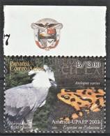 2003 Panama AMERICA/Upaep, Endangered Species: Harpy Eagle, Clown Frog Stamp (** / MNH / UMM) - Aigles & Rapaces Diurnes