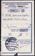 Kingdom Of SHS Croatia Zagreb 1929 / Uputnicka Priznanica, Receipts / Postal Money Order / Postanska Uputnica / Klek - Correo Postal