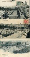 Barcelona Plaza Cataluna Animada 3 Tarjetas Postales - Barcelona