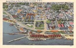 TRINIDAD & TOBAGO (B.W.I.) TRINIDAD : Aerial View Of Port Of Spain -  CPSM Format CPA 1956  - British West Indies- - Trinidad