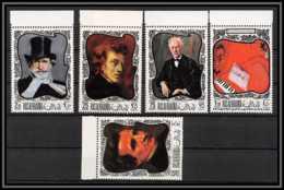 Ras Al Khaima - 535/ N° 276/280 A Berlioz Mozart Chopin Strauss Verdi Musique Music Composers Neuf ** MNH - Ras Al-Khaima