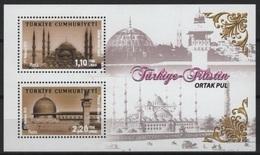 Turquie - Turkey (2013) - Block -   / Joint Issue With Palestine - Heritage - Architecture - Gezamelijke Uitgaven