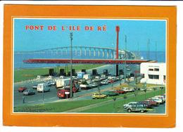 DAF, CITROEN GS, Méhari, RENAULT 4, AUSTIN Mini, BERLIET - Pont De L'Ile De Ré - Voitures De Tourisme