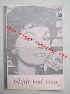 Du Rififi Chez Les Femmes (1959) / Alex Joffé: Nadja Tiller, Robert Hossein, Silvia Monfort ZETA Film ( French Film ) - Programs